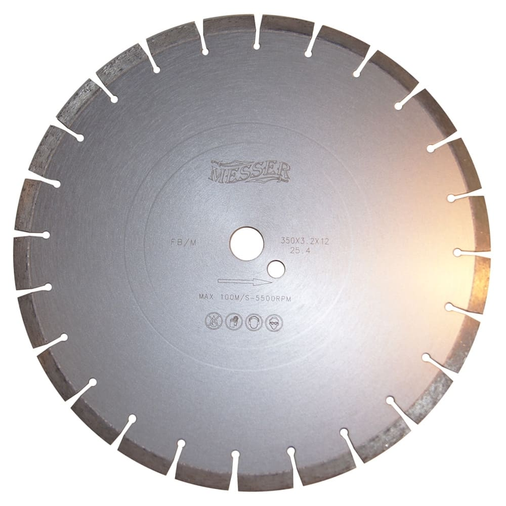 Расходные материалы Алмазный диск по железобетону 350Х25.4мм Messer прокат, аренда Москва