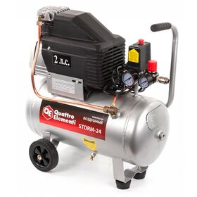 компрессор Quattro Elementi Storm-24, 1500 Вт, 24 л, масляный